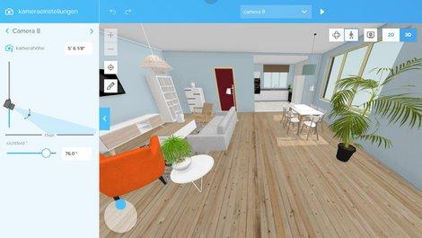 Ein Beispielbild des Programms Floorplanner. Foto: Floorplanner
