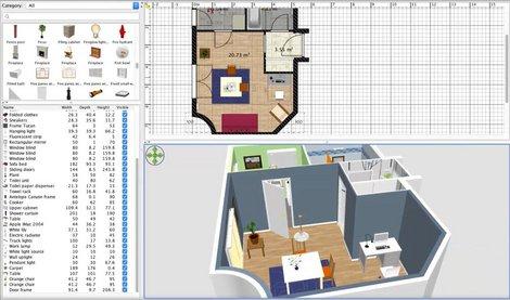 Ein Beispielbild von Sweethome 3D. Foto: Sweethome 3D